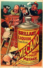 Brilliant Mecano, 1895 French Advertising Poster Giclee Canvas Print 20x31