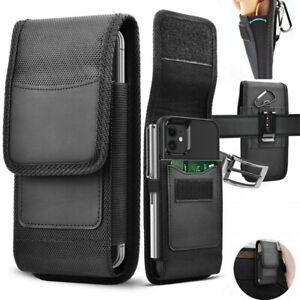Vertical Cell Phone Holster Pouch with Belt Loop Wallet Case Cover for Phone UK