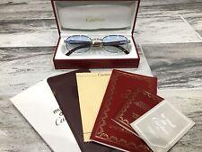 Occhiali Vintage Cartier Breteuil Or Wood Legno Sunglasses Lunettes Eyeglasses
