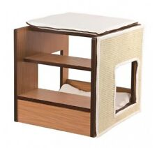 ELITE ZONE DELUXE CAT FURNITURE, MULTI LEVEL CAT BED WITH SCRATCH PANEL - DUKE
