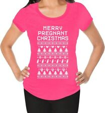 Funny Ugly Xmas Sweater - Merry Pregnant Christmas Maternity Shirt Gift Idea