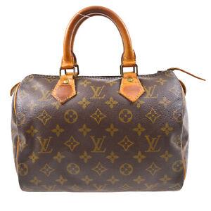 LOUIS VUITTON SPEEDY 25 HAND BAG PURSE MONOGRAM CANVAS M41528 20621