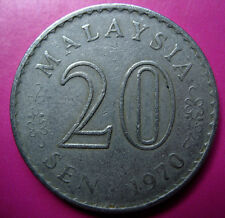 1970 Parliament 20 cents coin Key Date VF #B114