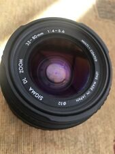 Lens Sigma DL Zoom 35-80mm 1:4-5.6 Sony Alpha And Minolta Fitting