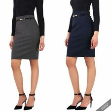 Straight, Pencil Formal Solid Skirts for Women