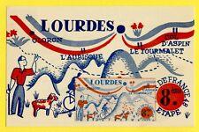 cpa TOUR de FRANCE CYCLISTE 1948 8e Etape LOURDES TOULOUSE Postcard Cycling Race