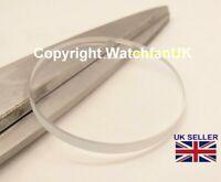 Verre minéral de rechange pour montre plat rond épaisseur 3 mm / 18 mm à 50 mm