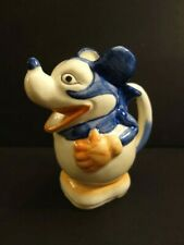 """All Original MICKEY Mouse Ceramic Pitcher 6""""3/4 Made in Japan 1930 's Disney"""