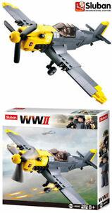 Sluban WWII German Fighter Plane Brick Blocks Model Boys Toy Play Set Army B0692