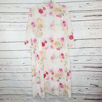 NWT Lularoe Shirley Kimono Duster Open Front Floral Print Size Medium