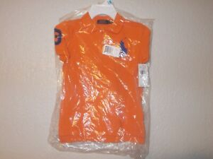 Polo Ralph Lauren Orange Short Sleeve Boy's Polo Shirt Size 5 NWT