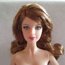 NEW Barbie 2015 Holiday Doll Redhead Auburn Hair Blue Eye Model Muse Mackie Nude