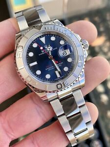 Rolex Yachtmaster 116622 Blue Dial Steel & Platinum - No Box No Papers