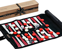 Genuine Leather Travel Backgammon Set Quality Board Games Travel Games Families