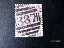 Great Britain #5a Six Pence Queen Victoria Plate 9, 1867, Clear 387 Postmark