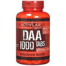 ACTIVLAB DAA 1000 120 Tabs D-ASPARTIC ACID ANABOLIC TESTOSTERONE BOOSTER