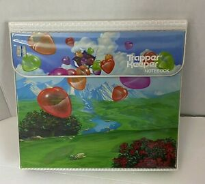 Trapper Keeper from the 80's Hearts Balloons Mountains Grass Water Fall Stream