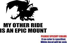"Vinyl Decal Sticker - World of Warcraft Epic Mount Car Truck Bumper JDM Fun 12"""