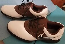 NIKE AIR GOLF SHOES (NEW without box) White leather & Brown