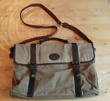 FOSSIL Canvas & leather messenger bag