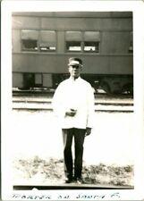 Vintage Photograph African American Porter Santa Fe Railway Houston Tx 1945