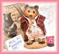 ❤️Wee Forest Folk BB-12 Grandfather Bear Red Pink SPECIAL FairyTales LE 75❤️