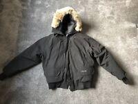 Genuine Canada Goose Chilliwack Bomber Jacket Fur Hood Parka Black . Large
