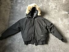Genuine Canada Goose Chilliwack Bomber Jacket Fur Hood Parka Black . Large