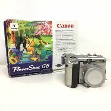 Canon PowerShot G6 Digital Camera Silver with Charger #319