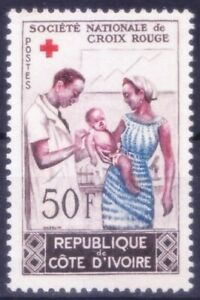 Ivory Coast 1964 Mint no gum, National Red Cross, Medicine, Doctor