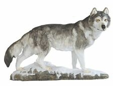 13 Inch Wolf Walking in Snow Nature Wildlife Animal Statue Collectible Wild