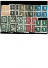 Bosnia-1901/1918 lot stamps in block of fours MNH
