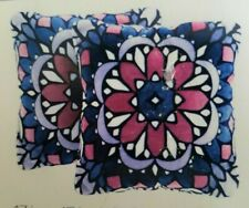 NEW Decorative Pillows Purples Blue Pink Floral 2-Pack 17x17 Sooo Soft! Art Deco