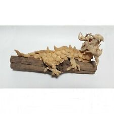 """New Wooden Dragon Mold Mixed Sawdust Handmade Thai Amulet Power Protect 4""""x9""""x4"""""""