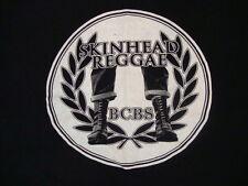 Skinhead Reggae BCBS Music Genre Artwork Logo Black T Shirt XL