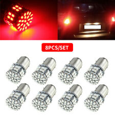 US 8PCS 1157 BAY15D 50-SMD 1206 LED RED LIGHTS CAR TAIL STOP BRAKE LAMP BULB 12V