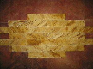 Wandverblender Naturstein Travertin Riemchen Yellow Persia 2x Muster ca.30x5x2cm