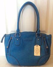 St. John's Bay Piper Shopper Shoulder Bag Light Blue NEW NWT Orig.Price $70