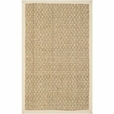 Elegant Durable Natural Fiber Basketweave Seagrass Area Rug - 3'x5' by Safavieh