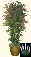 Artificial 6' Ficus Tree Plant Bush Basket Arrangement Topiary Lights Christmas