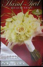 Wedding Bq stem wrap Ivory silk and pearl edge contact closure bridal design