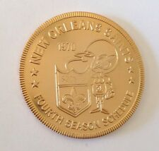 1970 70 New Orleans Saints Nfl Vtg Old 4th Season Schedule Doubloon Coin Token !