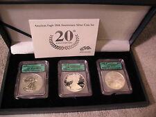 2006 20th ANNIVERSARY 3 COIN SET-ICG 70-70-69
