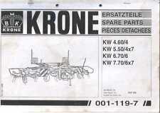 Krone foin tedder kw4.60 / 4 kw5.50 / 4x7 kw6.70 / 6 manuel