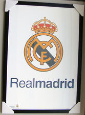 REAL MADRID LOGO framed POSTER Ready to Hang LICENSED POSTER IN A FRAME