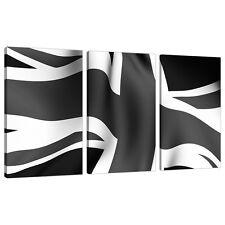 Set of 3 Black White Canvases Wall Art Prints Set UK Living Rooms 3019
