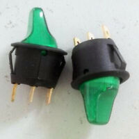 1pcs 120v - 240v OFF/ON Green Bulb Light Toggle Switch w/ Indicator Light ON-OFF