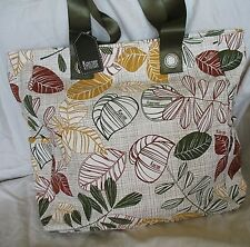 New Tote Bag Shopper Purse Casual Earth Tones Kristine Large 12 inch x 13 inch
