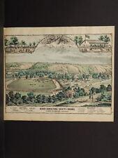 Pennsylvania Beaver County Map Beaver Agricultural Society Engravings 1876 Q4#78