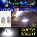 2 Super Bright White LED Lights Side Marker Bulbs for 2003-2006 Infiniti G35 #Q7